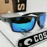 Buy 580G - COSTA DEL MAR matte gray/blue mirror REEFTON POLARIZED sunglasses! NEW!