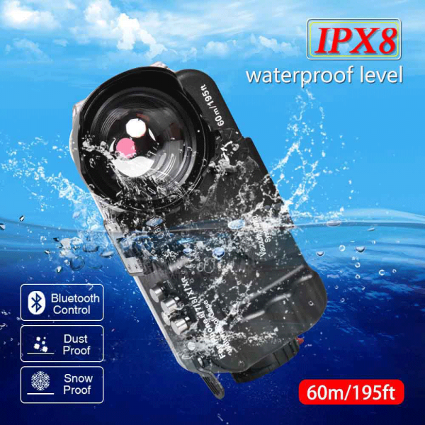 Buy 60m/195ftIPX8 Waterproof Bluetooth Diving Case Cover Underwater Bag For iPhone