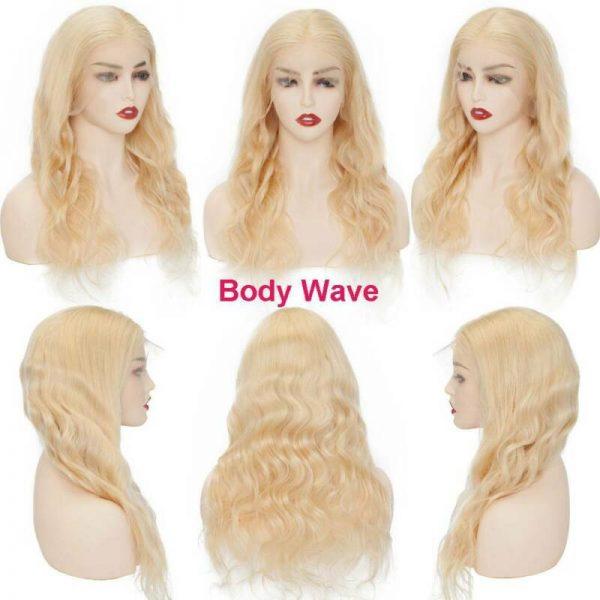 Buy 613 Blonde Full Lace Wig 100% Real Brazilian Human Hair 360 Wig Bleach Knots Cxz