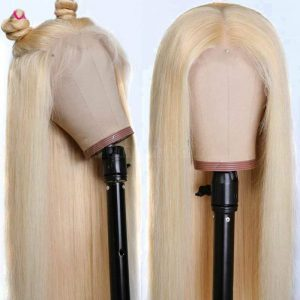 Buy 613 Blonde Full Lace Wig 100% Real Brazilian Human Hair 360 Wig Bleach Knots Cxz