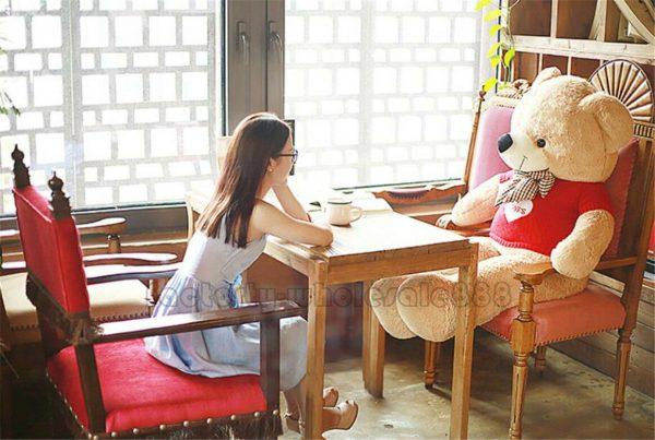 Buy 63'' Big USA Teddy Bear Plush Toys Giant Soft Stuffed Animal Doll Valentine Gift