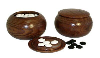 Buy 8mm Glass Bi-Convex Go Stones with Plastic Bowls