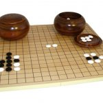 Buy 8mm Glass Stone Go Set W/ Slotted Board and Wood Bowls