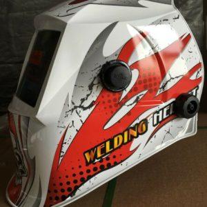 Buy ABS certified mask Auto Darkening Welding Helmet+Grinding hood ABS