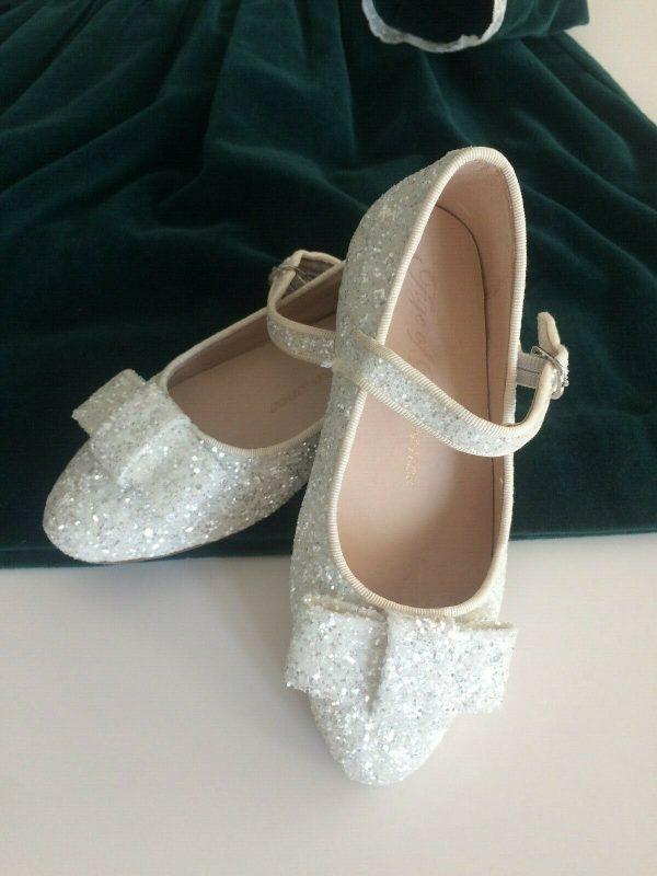 Buy AGE OF INNOCENCE SHOE BRAND - Ellen Glitter White, size EUR 28 - NEW