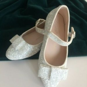 Buy AGE OF INNOCENCE SHOE BRAND - Ellen Glitter White, size EUR 28 - NEW