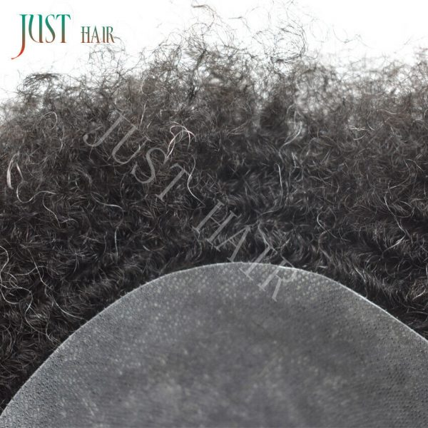 Buy Afro Curl Toupees For Black Men Lace Front &Skin 100%Human Hair Africa 10MM Wigs