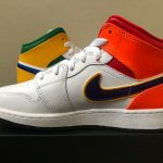 Buy Air Jordan 1 Mid GS White Multicolor Size 4-7Y 554725-128 LIMITED 100% Authentic