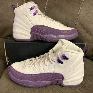 Buy Air Jordan 12 Retro Kids Sz 6.5y Sz 8 Women's # 510815-001 Purple.