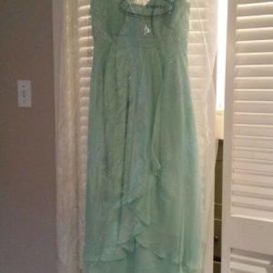 Buy Alfred Angelo Aqua Chiffon Maternity Bridesmaid Dress, Size 2