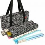 Buy American Mahjong Set by Linda Li - Black Paisley Soft Bag - 166 Ivory Colored