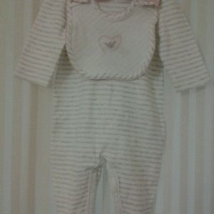 Buy Armani Infant Girl One pc Footie w/matching bib size 3m NWT