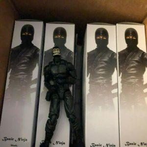 Buy Articulated Icons Lot, Black Ninjas, Modern,  Fwoosh, 1/12, Action figures