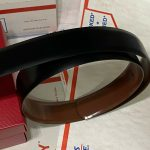 Buy Authentic Salvatore Ferragamo Reversible Brown Black Belt Small Gunmetal Buckle
