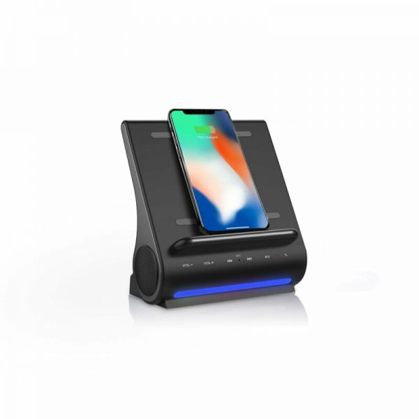 Buy Azpen D100 Wireless Charging Station With Multiple Usb Ports + Bluetooth Speaker
