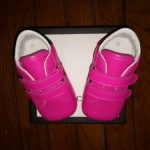 Buy BABY GUCCI SNEAKERS NEON PINK WITH WEB PRINT EURO SIZE 19 (9/12 MONTHS) USA