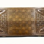 Buy BACKGAMMON big BOARD GAME Armenia Wood Nardi Nardy CROWN checkers chess carving