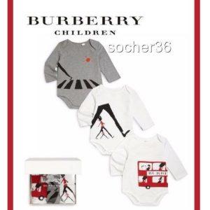 Buy BURBERRY BABY 3 PIECE LONDON BODYSUIT SET IN BOX SIZE 18 MONTHS NIB $215
