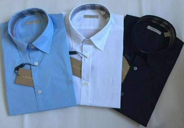 Buy BURBERRY BRIT HENRY MEN S LONG SLEEVE STRETCH COTTON DRESS SHIRT S M L XL XXL