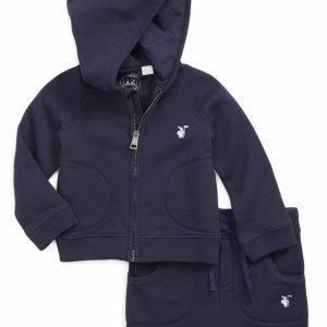 Buy BURBERRY CHILDREN Baby QUINTEN HOODIE OUTFIT SET Navy Blue 6 Months ($220)