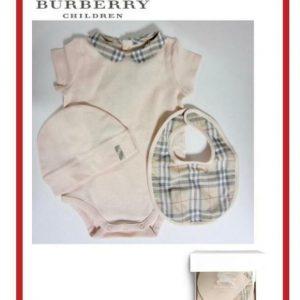 Buy BURBERRY INFANT 3 PC SHORT SLEEVE BODYSUIT HAT & BIB SET SIZE 9 MONTHS NWT $150