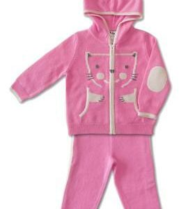 Buy Baby Hoodie Top with matching Pants Pure Cashmere Pink