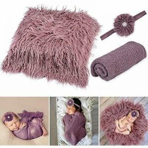 Buy Baby Photo Swaddling Blankets Props Newborn,Aniwon 3PCS Long Ripple Photography