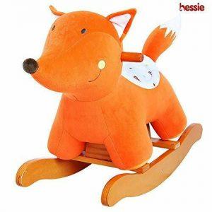 Buy Baby Rocking Horse, Kids Orange Fox Wooden Rocker Ride On, Plush Rocking Horse