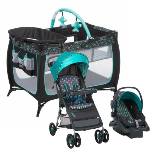 Buy Baby Stroller Travel System Car Seat with Playard Crib Combo New