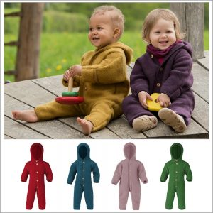 Buy Baby Thermal Coverall Romper Snowsuit, 100% Organic Wool Fleece, 0-24 Months