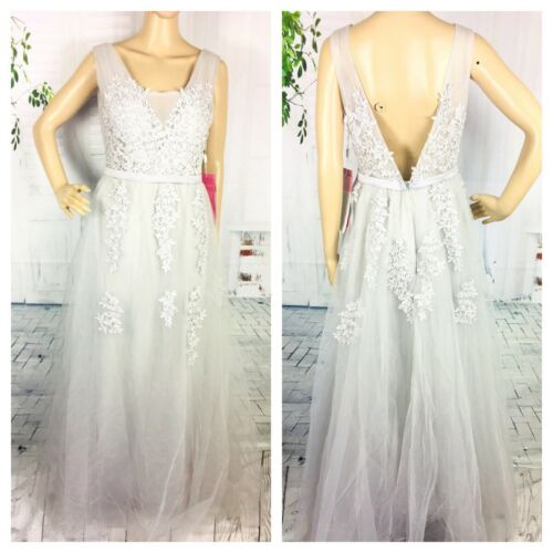Buy Babyonline Maternity Bridal Wedding Dress Formal Gray Applique Long Applique 12