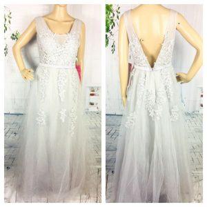 Buy Babyonline Maternity Bridal Wedding Dress Formal Gray Applique Long Applique 12