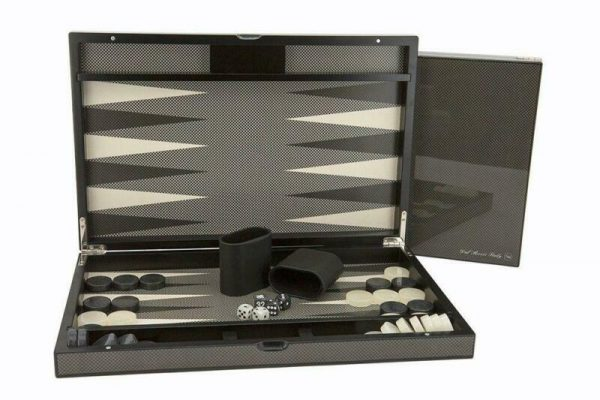 Buy Backgammon Carbon Fibre Finish Set - 18 Inches - Dal Rossi Free Shipping!