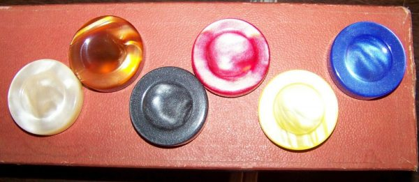 "Buy Backgammon Checkers, Spanish Pearlized Checkers, 1 3/4"" by 1/2"", Wanted !"