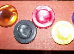 """Buy Backgammon Checkers, Spanish Pearlized Checkers, 1 3/4"""" by 1/2"""", Wanted !"""