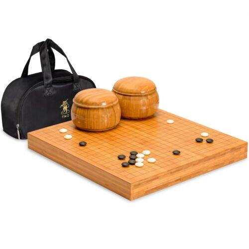 "Buy Bamboo 2"" Reversible Go Set w/ 9.2mm Double Convex Yunzi Stones & Bamboo Bowls"