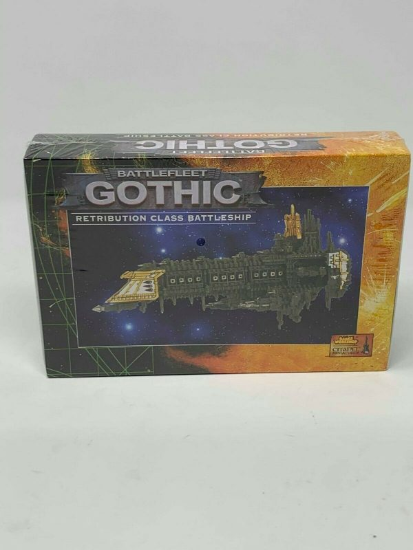 Buy Battlefleet Gothic Imperial Retribution Class Battleship NIB OOP Sealed (1998)