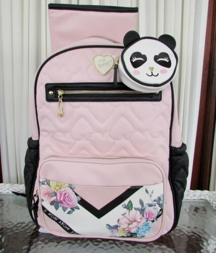 Buy Betsey Johnson Diaper Bag Backpack Hearts Floral School Travel 3 Piece NWT $158