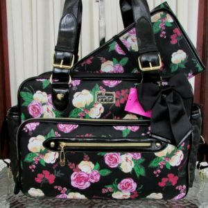 Buy Betsey Johnson Diaper Bag Floral Tote Weekender Travel & Baby Changing Pad NWT