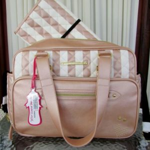 Buy Betsey Johnson Diaper Bag Tote Weekender Travel Rose Gold & Changing Pad NWT
