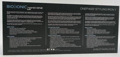 Buy Bio Ionic OnePass Nano Ionic MX Pro Styling Iron Silicon Speed Strip 1 inch