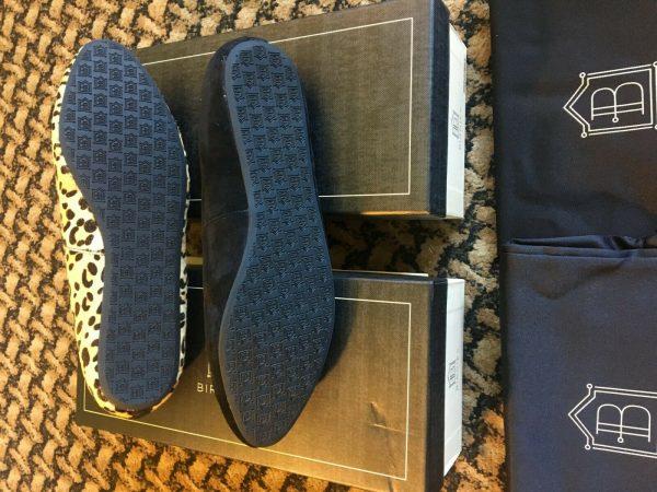 "Buy Birdies Black ""Lark""Or Leopard ""Wren"" Flats Slippers Shoes Size 7/7.5/8/8.5/9/10"