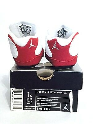 Buy Brand New Nike Air Jordan 13 Retro Low (CB) Crib White Red XIII 310814-105 1c