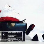 Buy Brand New Nike Air Jordan 13 Retro Low (CB) Crib White Red XIII 310814-105 2c
