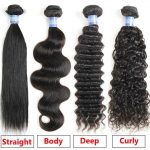 Buy Brazilian Hair Body Wave/Straight/Deep/Curly Human Weave Extensions100g/1 Bundle