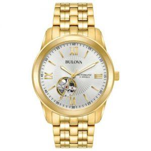 Buy Bulova Men's  Automatic Open Heart Silver-White Dial Bracelet 42mm Watch 97A130