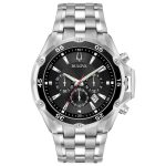 Buy Bulova Men's Quartz Chronograph Black Date Calendar Dial 45mm Watch 98B333