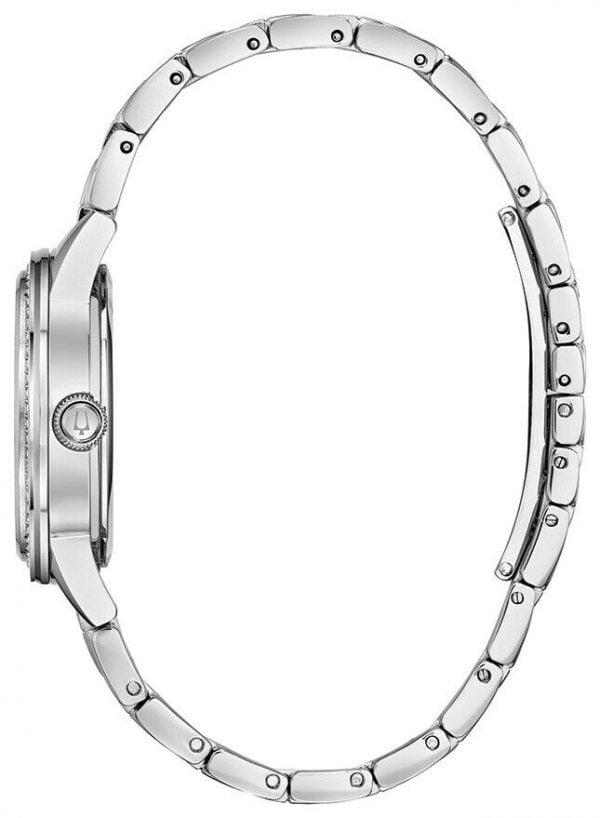 Buy Bulova Women's Quartz Crystal Accents Silver-Tone Bracelet 23mm Watch 96L260