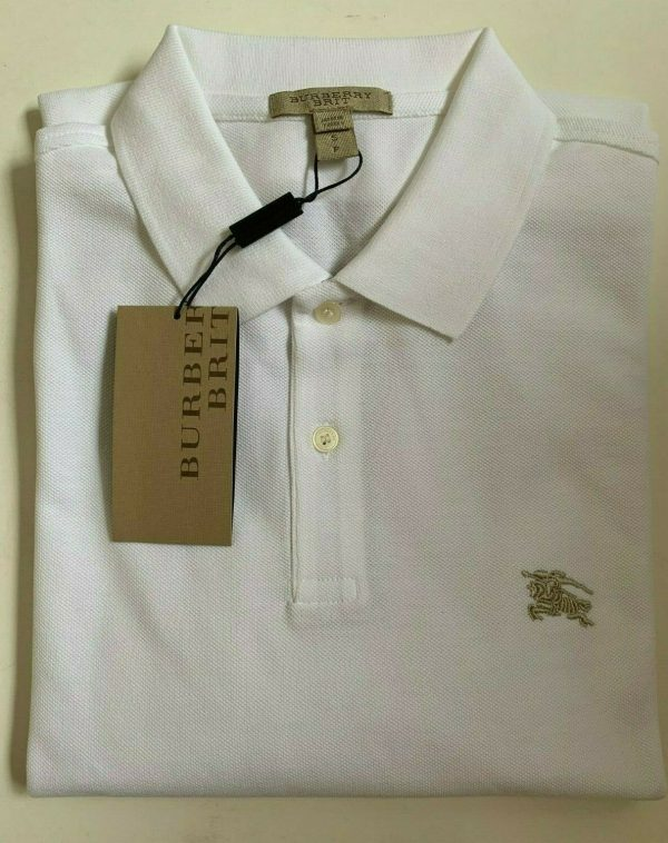 Buy Burberry Brit Men's Long-Sleeve Pique Polo Shirt Check Placket S M L XL XXL XXXL