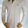 Buy Burberry Brit Men's Long-Sleeve Pique Polo Shirt Check Placket S M L XL XXL XXXL